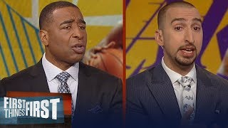 Nick and Cris react to KD's comments about LeBron's 'toxic' environment   NBA   FIRST THINGS FIRST