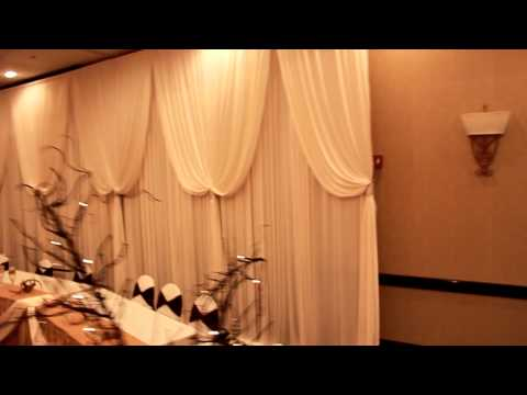 Beautiful Head Table backdrop for Wedding Reception - Event Decor Rental Chicago & Suburbs