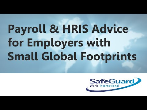 Payroll & HRIS Advice for Employers with Small Global Footprints