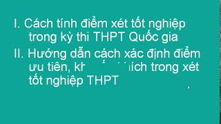 cách tính điểm xét tốt nghiệp THPT|Điểm xét tốt nghiệp thpt được tính như thế nào