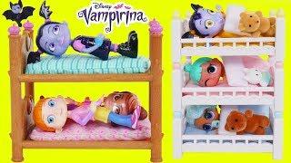 Don't Wake Vampirina Game Disney Morning Dolls Bedtime Routine Baby Sister Slumber Party Sleepover!