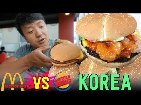 KOREAN McDonald's VS. Burger King in Seoul South Korea