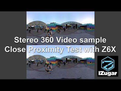 Close proximity stereo 360 video sample by @iZugar #Z6X series Kc Lai