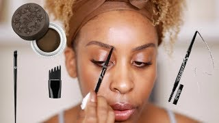 How to FAKE Microbladed Brows! | Jackie Aina