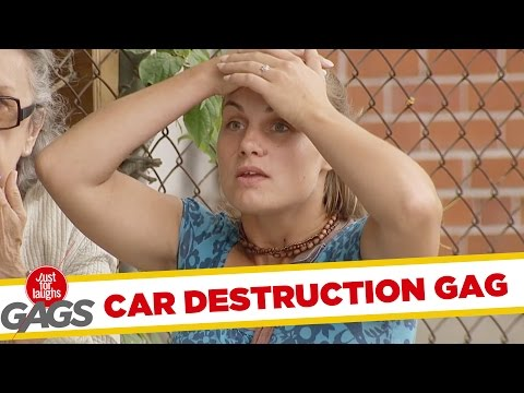 Instant Accomplice- Husbands Smash Cars Prank
