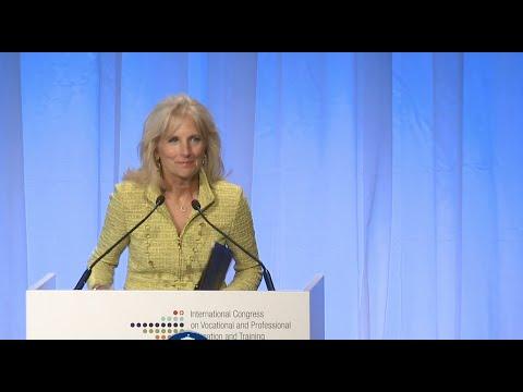 Dr. Jill Biden at the International Congress on Vocational & Professional Education & Training