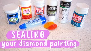 Sealing Your Diamond Painting   WHAT'S BEST?