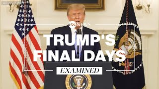 How Donald Trump spent his last days as president
