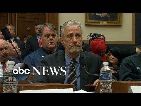 Jon Stewart demands Congress support 9/11 compensation fund