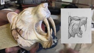 Carving An Apex Predator Sabertooth tiger