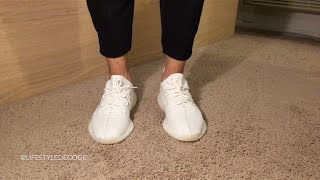 size 40 d98c3 6cfdd cream white yeezy on feet review Videos - Playxem.com