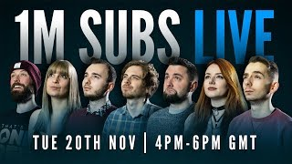 WhatCulture Gaming 1 MILLION SUBSCRIBER Spectacular LIVE!