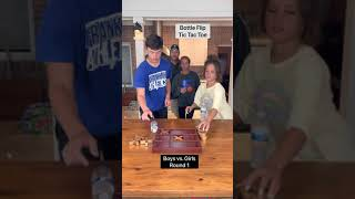 Boys vs. girls!! Bottle Flip Tic Tac Toe!! 😂😂WATCH UNTIL THE END!!😂😂