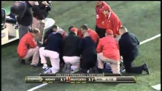rutgers player paralyzed video  ric legrand video