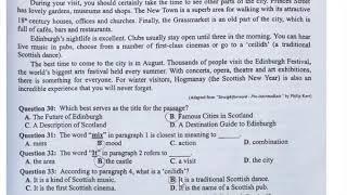 Đề thi tiếng Anh THPT 2019, chi tiết giải thích đáp án (mã đề 416)