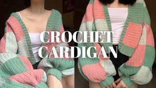 CROCHET PATCHWORK CARDIGAN | Harry Styles cardigan inspired