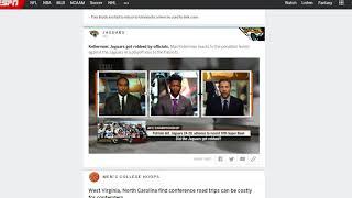 ESPN : The Game Is Rigged Jaguars Vs. Patriots NFL