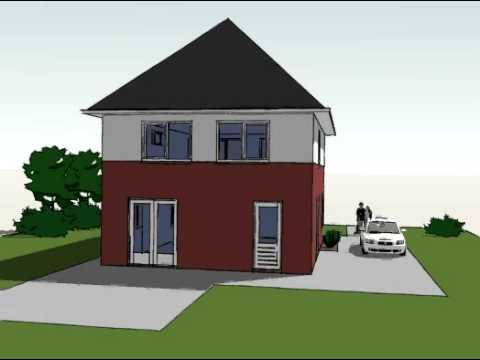Voorbeeldplan nieuwbouw woningontwerp KB770 3D