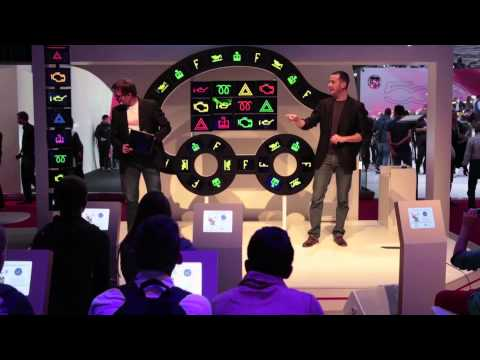 Digital Magic for Total in The Paris Motor Show 2014, Mondial de l'automobile 2014