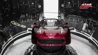 اول سيارة سوف تسافر الي الفضاء تيسلا رودستر     -