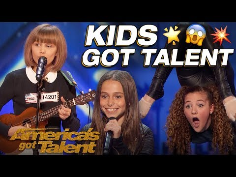 Grace VanderWaal, Sofie Dossi, And The Most Talented Kids! Wow! - America's Got Talent