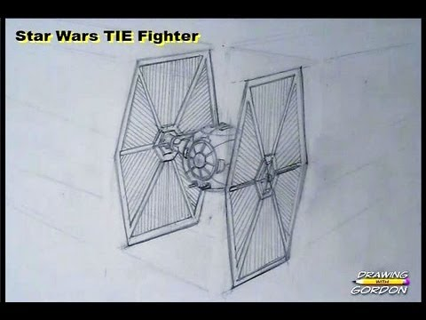 Star Wars Tie Fighter Drawing Youtube