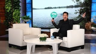 Mario Lopez Plays 'Epic or Fail' with Ellen's Audience