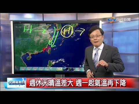 強冷空氣明起南下 中部以北氣溫降│中視新聞 20191127