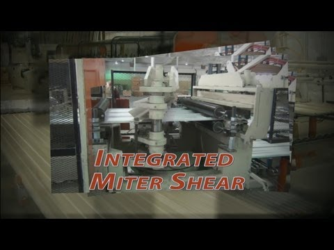 Hayes International The Bradbury Group Integrated Miter shear for Gable ends rollforming Machine