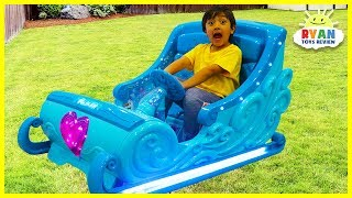 Disney Frozen Sleigh Ride-On Power Wheels for Kids!