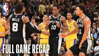SPURS vs LAKERS   San Antonio & Los Angeles Go Down To The Wire   October 22, 2018