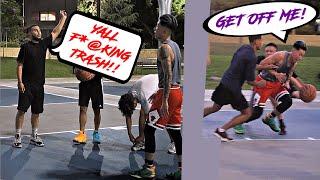 Trash Talker EXPOSED!! INTENSE PHYSICAL Park Hoops!!