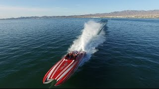 Insane 2700HP 40' Skater Running at Full Speed in Lake Havasu