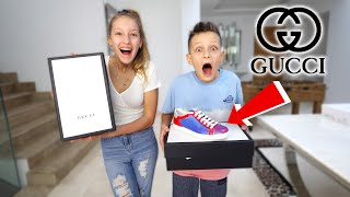 Customizing GUCCI Shoes and Giving them Away!!!!