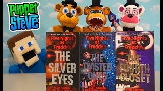 Five Nights at Freddy's Plush Storytime BOOK Collection! Twisted Ones, Fourth Closet, Silver Eyes