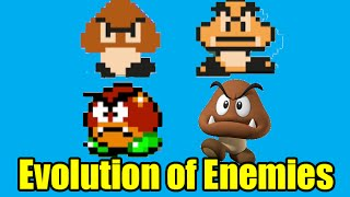 Evolution of Enemies in the Mario Series and Graphics Comparison (Super Mario Maker)