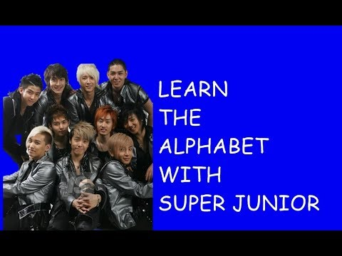 Learn the Alphabet with Super Junior