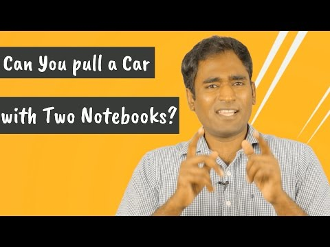 Can You pull a Car with Two Notebooks?