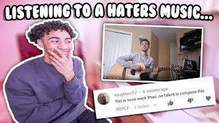 Taking A Listen To A HATERS Music... Reacting To My BIGGEST Haters Music