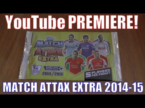 ☆☆☆WORLD PREMIERE!☆☆☆ topps MATCH ATTAX EXTRA 2014/15 Trading Cards ⚽️ 3x PACKS OPENED