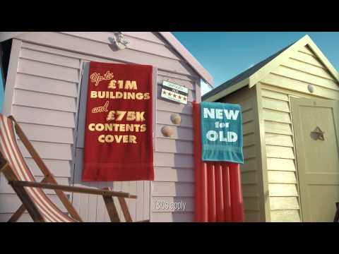 Hastings Direct home insurance - beach hut TV advert