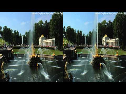 (3D) Fountain architecture nature of Petergof (Peterhof, Petrodvorets, Versailles) part1
