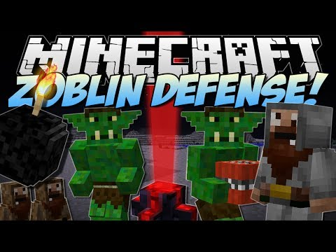 Minecraft   ZOBLIN DEFENSE! (Protect The Eldritch Empires!)   Mod Showcase - Smashpipe Games