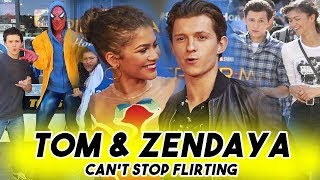 TOM HOLLAND AND ZENDAYA CANT STOP FLIRTING WITH EACH OTHER | Spider-Man: Far From Home Teaser