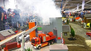BIG RC FIRE RESCUE OPERATION!! RC FIRE FIGHTER TRUCKS!! *RC SCANIA, RC MAN, RC AUDI, RC MB