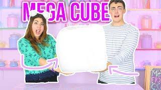 MEGA CUBE SLIME FLOAM | making a giant mega size cube floam | Slimeatory #35