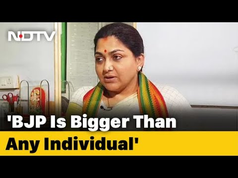 "BJP not dependent on Rajinikanth..."": Actor-Politician Khushbu Sundar to NDTV"
