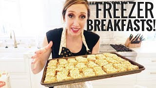 Make-ahead FREEZER breakfasts! French toast sticks, egg muffins, buttermilk syrup