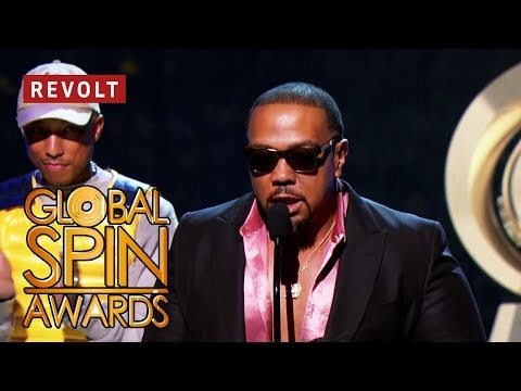 Pharrell presents Timbaland with Lifetime Achievement Award | Global Spin Awards