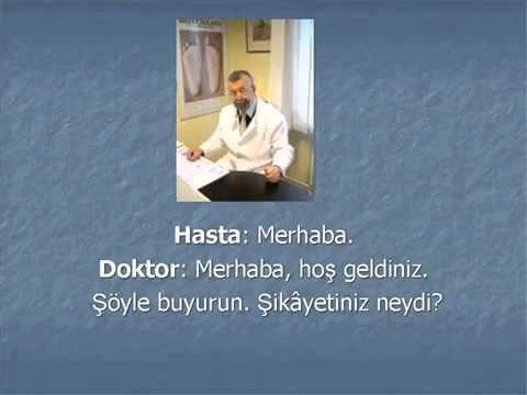 Yabancılara Türkçe - A1 Hasta - Doktor Diyalogu